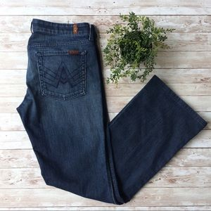 7 For All Mankind Dark Wash A Pocket Jeans